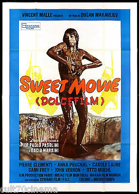 Sweet Movie - Dolce Film Manifesto Cinema Carol Laure Sexy 1974 Movie Poster 4F