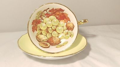 Hammersley 4977/19 Handpainted Walnut And Grape Cup And Saucer