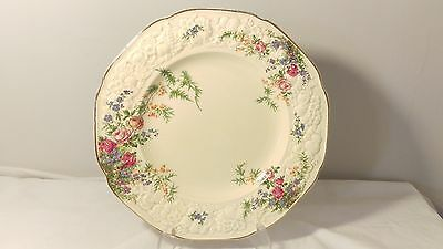 "Crown Ducal Rosalie Florentine Shape 8 7/8"" Luncheon Plate (s)"