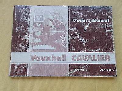 Vauxhall Cavalier Owner's Manual Dated April 1983 - 112 Pages