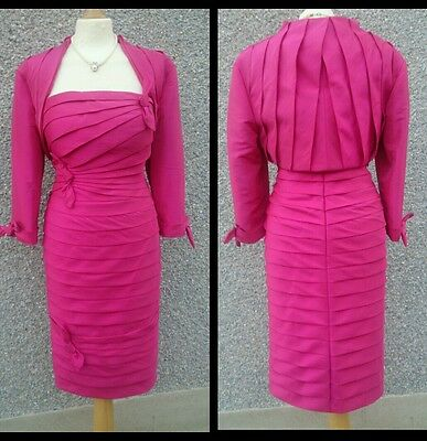 Stunning BNWT Mother of Bride Pink Dress & Jacket by Irresistible, Size 14