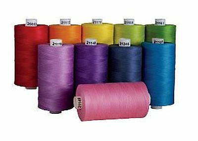 Connecting Threads 100% Cotton Thread Sets - 1200 Yard Spools (Over the Rainb...