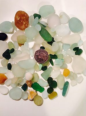 200g Seaham North East Sea Glass - Vintage Glass, Beach Crafts Jewellery