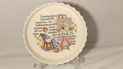 Poole Pottery Needlepoint Print Pie Dish 7 7/8""