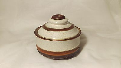 Denby Potter's Wheel Rust Red Sugar Bowl With Lid - Excellent Condition