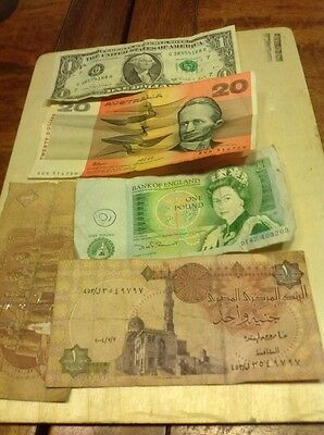 old bank notes One Pound Australia 20 Dollar & More