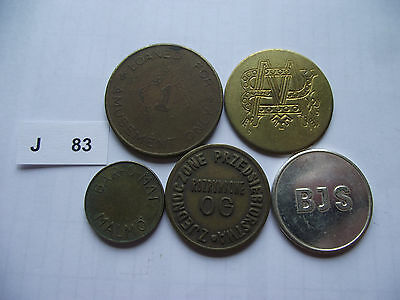 Lot Of 5 Tokens. J83