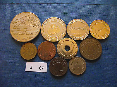 Lot Of 10 Different Tokens. J67