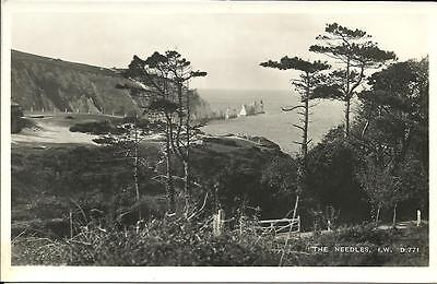 The Needles & Alum Bay, From Woods Above, Iow (Rp Postcard)