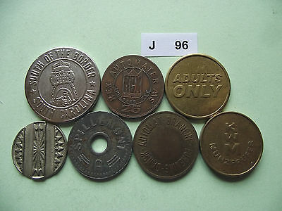 Lot Of 7 Tokens. J96