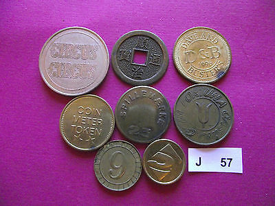 Lot Of 8 Different Tokens. J57