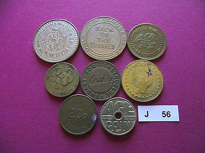 Lot Of 8 Different Tokens. J56