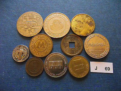 Lot Of 10 Different Tokens. J69