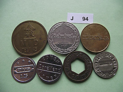 Lot Of 7 Tokens. J94
