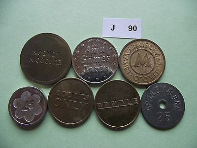 Lot Of 7 Tokens. J90