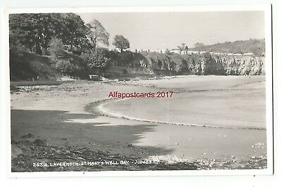 Wales Lavernock St Marys Well Bay Judges Vintage Postcard