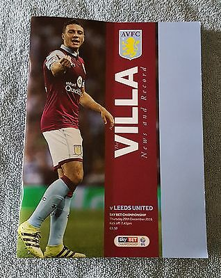 Aston Villa vs. Leeds United - 29/12/2016