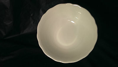 """JG Meakin Heirloom White Ribbed Scalloped Coupe Cereal Bowl 6 1/2"""" 6 Available"""
