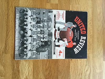 Manchester United V Anderlecht  1956 European Cup Preliminary Round