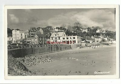 Wales Saundersfoot 1965 Real Photo Vintage Postcard