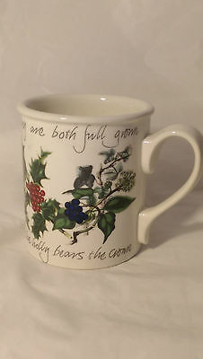 "Portmeirion The Holly and the Ivy 3 5/8"" Tall Mug (s) - Excellent Condition"