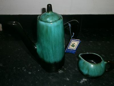 "Blue Mountain Collection, Lovely 11"" Coffee Pot And Milk Jug"