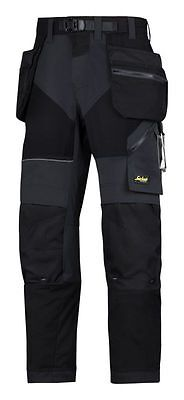Snickers 6902 Flexiwork Holster Work Trousers Black W36 L32
