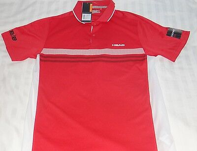 Head Red Mens Tennis Shirt - L - Excellent Condition - With Tags