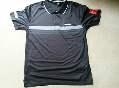 Head Black Mens Tennis Shirt - L - Excellent Condition - With Tags