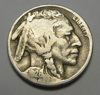 1926 Buffalo Nickel Grading in the GOOD/VG Range Nice Original Coins