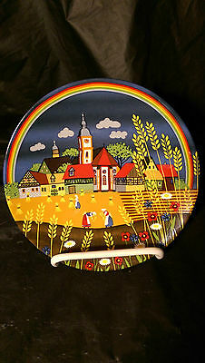 "Poole Art Pottery 426 Summer II 5 7/8"" Collector Plate - Part of the 4 Seasons"