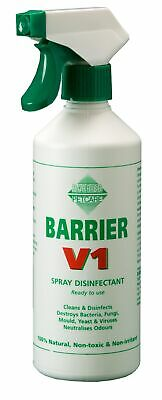 BARRIER V1 SPRAY DISINFECTANT 500ml poultry livestock cats dogs pets