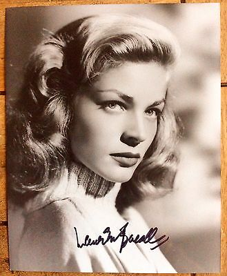 Signed LAUREN BACALL genuine autograph on 10x8 photograph