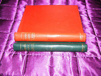 2 x Stanley Gibbons  Simplex Blank Albums  1 Red  & 1 Green  Both Used   EMPTY