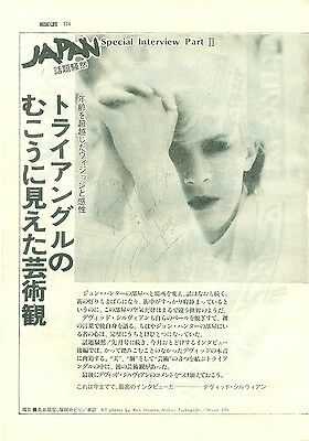 Japan / David Sylvian - Clippings From Japanese Magazine Music Life 1980