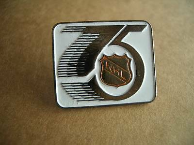 Vintage 1991 Official NHL 75th Anniversary Season Hockey Logo Lapel Pin-RARE