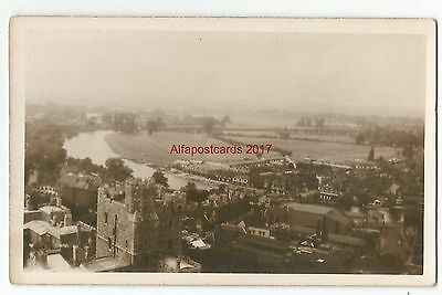 Oxon Oxford View from Church ? Real Photo Vintage Postcard