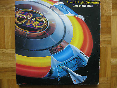 ELECTRIC LIGHT ORCHESTRA~OUT OF THE BLUE~1977 ROCK CLASSIC 2 x 12 LP CLOSE TO NM