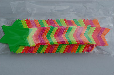 Pack of 100 42mm Neon Fluorescent Stars Retail Shop Labels Price Colour Displays