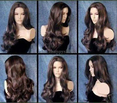 beautiful style long brown hair wigs for modern women wig