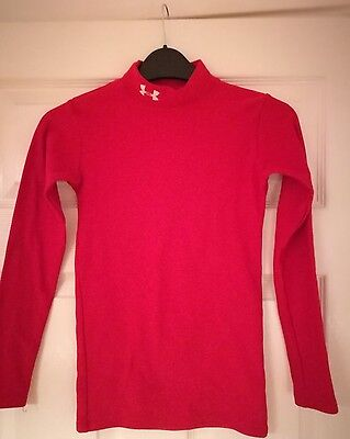 Youths Under Armour Coldgear Base Layer RED long sleeve – size YMD
