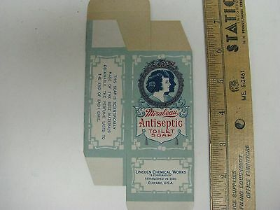 Mirabeau Antiseptic Toilet Soap Box Lincoln Chemical Works Patent Medicine