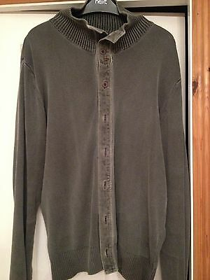 Mens Replay Grey Cardigan Size XL Genuine Winter
