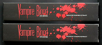 2x 15g Boxes VAMPIRE BLOOD Premium Extract Devils Garden Incense Insence Sticks