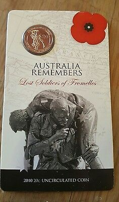 2010 uncirculated 20 cent coin. Lost Soldiers of Fromelles