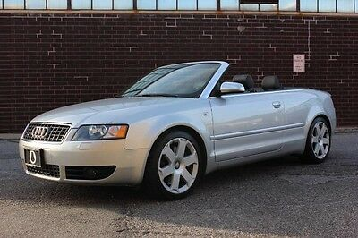 2005 Audi S4 Cabriolet Convertible 2-Door 2005 AUDI S4 CABRIOLET, ONLY 36,620 MILES, RARE 6-SPEED MANUAL, SERVICED!!