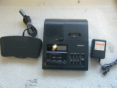 Sony BM-840 Microcassette Transcriber with Pedal & Power Supply