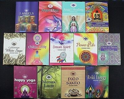 Incense Cones Green Tree Insence Cleansing Floral Wicca Meditation Spiritual 10