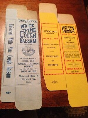 Universal Unused Boxes,White Pine Call Balsam, Uccosol Conklins,Chicago Illinois