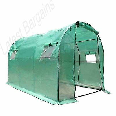 Walk In Greenhouse Hot House Garden Plant Shed Green PE Cover 3M x 2M NEW